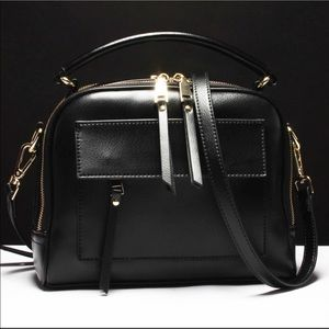 Nice Compact Sized Black Leather Bag